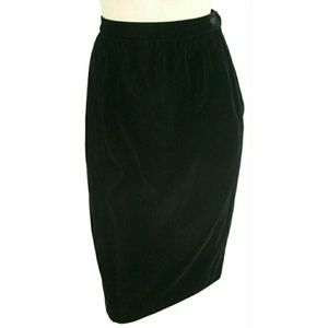 Valentino Boutique Velvet Straight Pencil Skirt